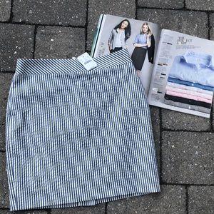 J. Crew Seersucker Mini Skirt